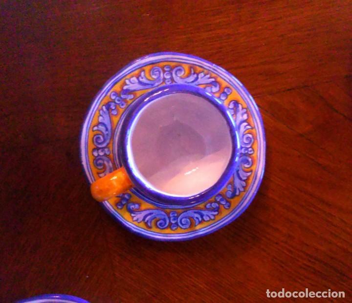 Antigüedades: Juego de cafe Talavera - Foto 8 - 80887123