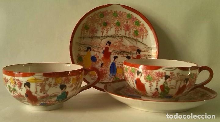 DELICADAS TAZAS CHINAS (Antigüedades - Porcelanas y Cerámicas - China)