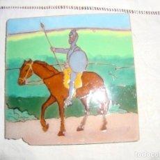 Antigüedades: AZULEJO RAMOS REJANO (QUIJOTE). Lote 80894955
