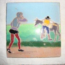 Antigüedades: AZULEJO RAMOS REJANO (QUIJOTE). Lote 80895295