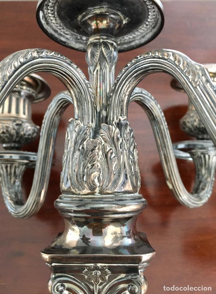 Antigüedades: Pareja de candelabros de plata - Foto 6 - 80902859