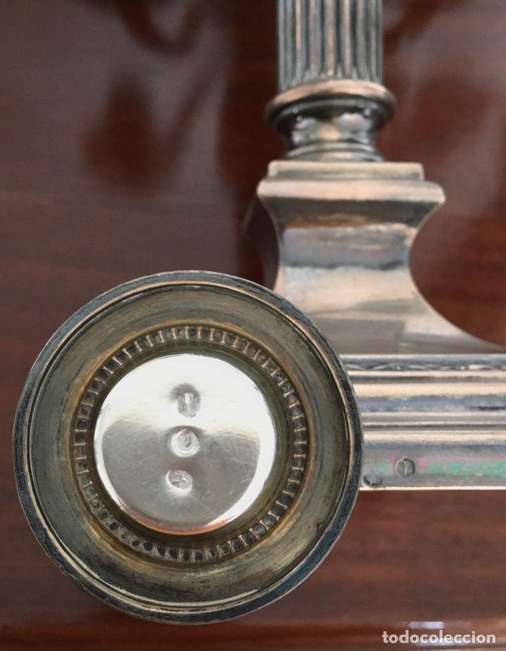 Antigüedades: Pareja de candelabros de plata - Foto 8 - 80902859