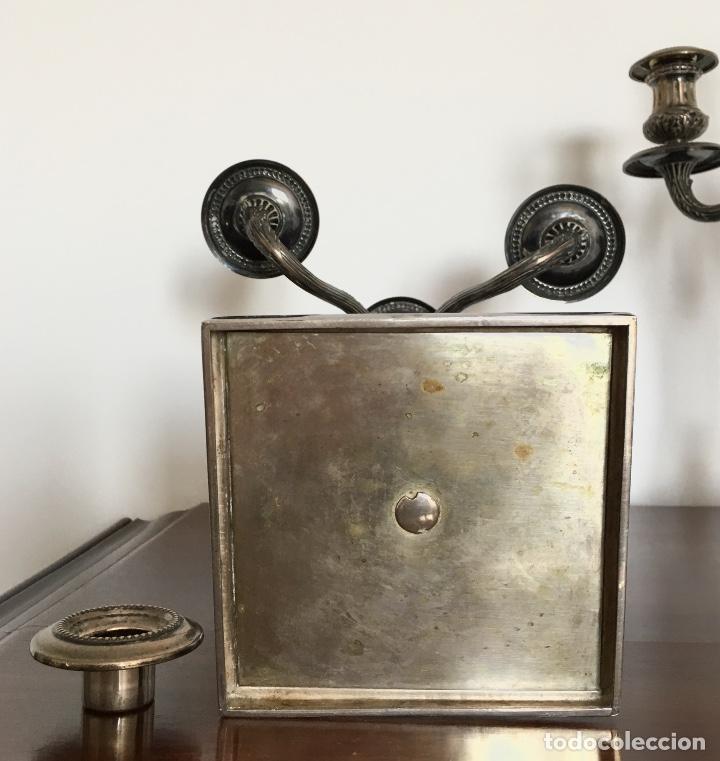 Antigüedades: Pareja de candelabros de plata - Foto 9 - 80902859