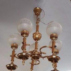 Antigüedades: LAMPARA DE BRONCE. Lote 80903728