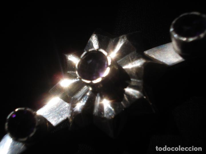 Antigüedades: GRAN CORONA PARA VIRGEN DE PLATA CON PIEDRAS - Foto 4 - 80907944