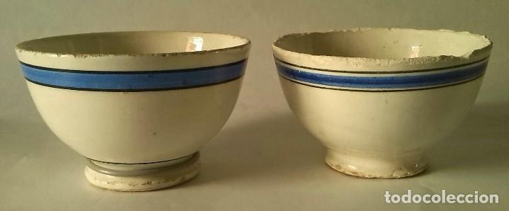 DOS ANTIGUOS CUENCOS (Antigüedades - Porcelanas y Cerámicas - Otras)