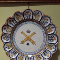 Antigüedades: ARTILLERIA PLATO DE CERAMICA DE TALAVERA CON MARCAS. Lote 81014707