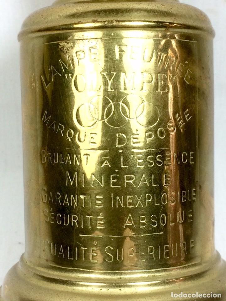Antigüedades: Quinqué Lampe Olympe en Latón a l'Essence Minerale - Francia s.XIX - Foto 2 - 81014940