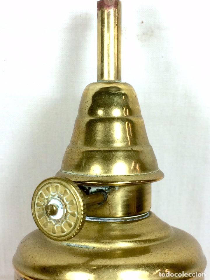 Antigüedades: Quinqué Lampe Olympe en Latón a l'Essence Minerale - Francia s.XIX - Foto 3 - 81014940