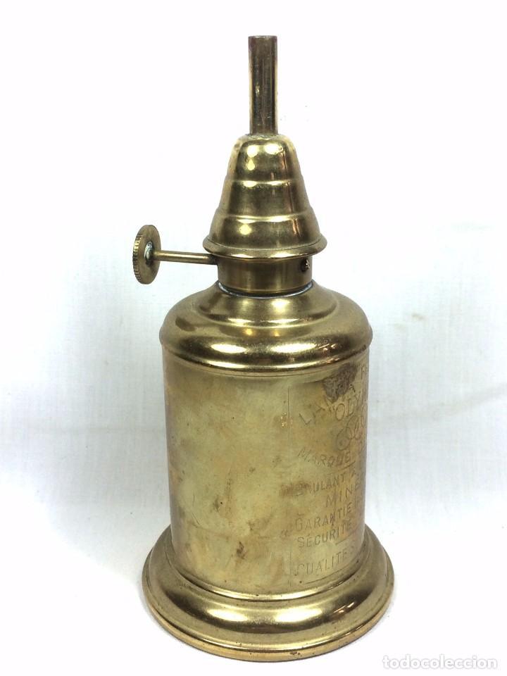 Antigüedades: Quinqué Lampe Olympe en Latón a l'Essence Minerale - Francia s.XIX - Foto 4 - 81014940