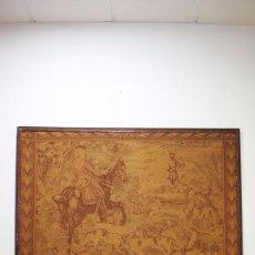 Antigüedades: GRAN TAPIZ ANTIGUO DEL SIGLO XIX. Lote 81026588