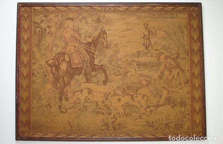 Antigüedades: GRAN TAPIZ ANTIGUO DEL SIGLO XIX - Foto 2 - 81026588