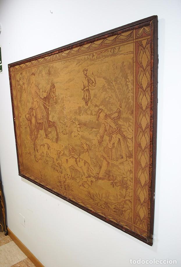 Antigüedades: GRAN TAPIZ ANTIGUO DEL SIGLO XIX - Foto 3 - 81026588