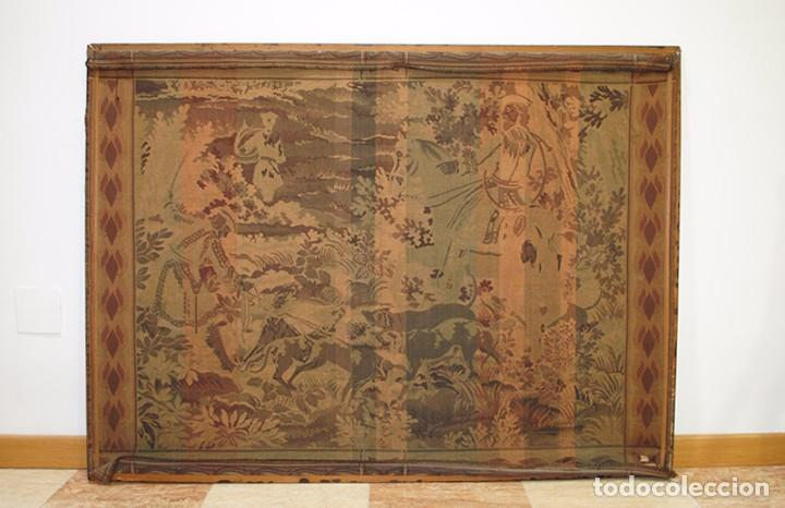 Antigüedades: GRAN TAPIZ ANTIGUO DEL SIGLO XIX - Foto 4 - 81026588