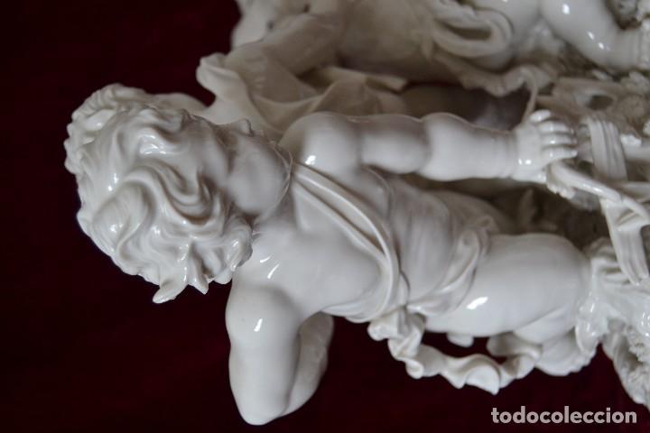 Antigüedades: grupo de porcelana de algora parmasso, con certificado - Foto 6 - 166994208