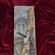 Antigüedades: FIGURA CON SOBRE RELIEVE DE PORCELANA ALGORA. Lote 81033676