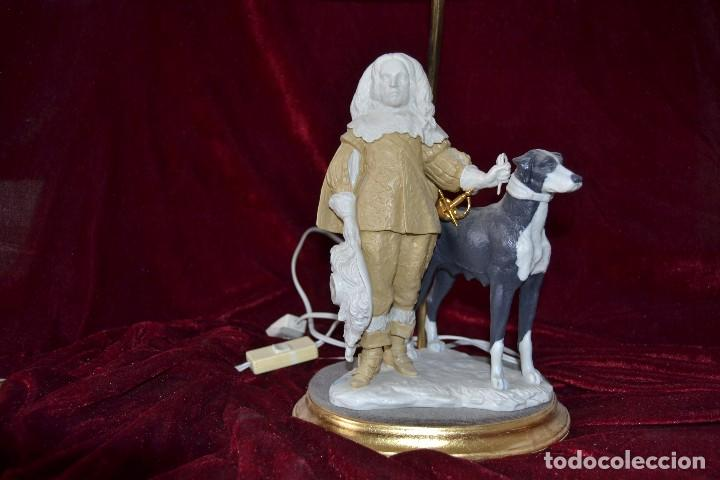 Antigüedades: lampara con figura de Antonio el Ingles en porcelana algora - Foto 4 - 81035328
