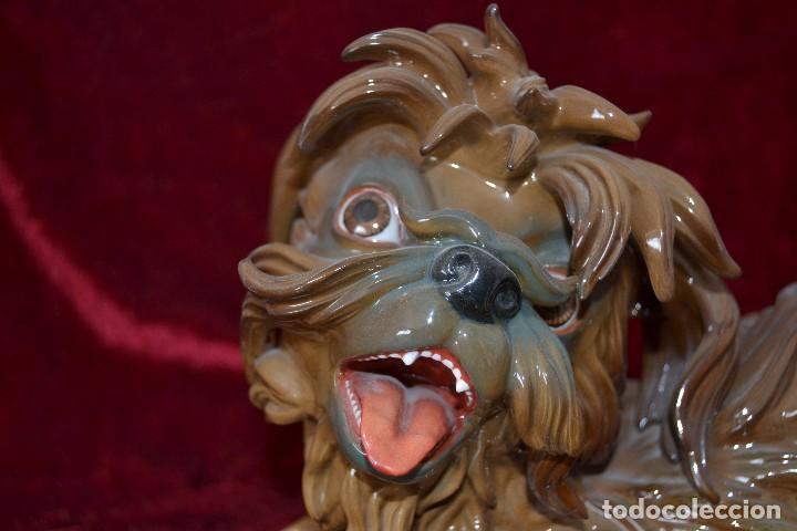 Antigüedades: perro de porcelana algora figura muy rara - Foto 3 - 81040612