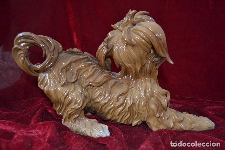 Antigüedades: perro de porcelana algora figura muy rara - Foto 4 - 81040612