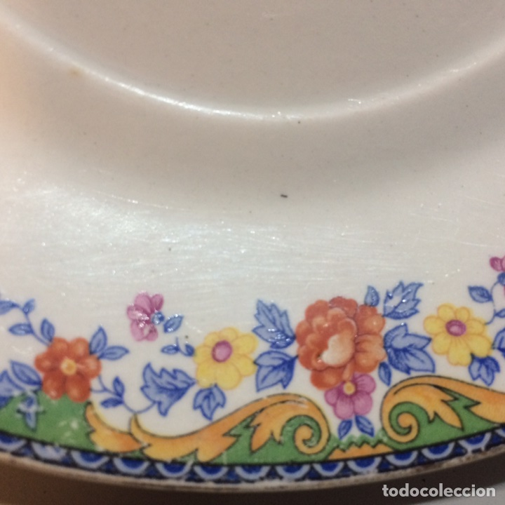 Antigüedades: Plato porcelana - Foto 3 - 81047923