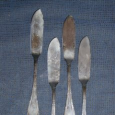 Antigüedades: PALAS DE PESCADO, METAL PLATEADO CONTRASTE GRIFÉ Y ESCODA. Lote 81071792