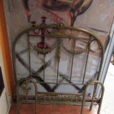Antigüedades: ANTIGUO CABECERO DE LATÓN. Lote 81077072
