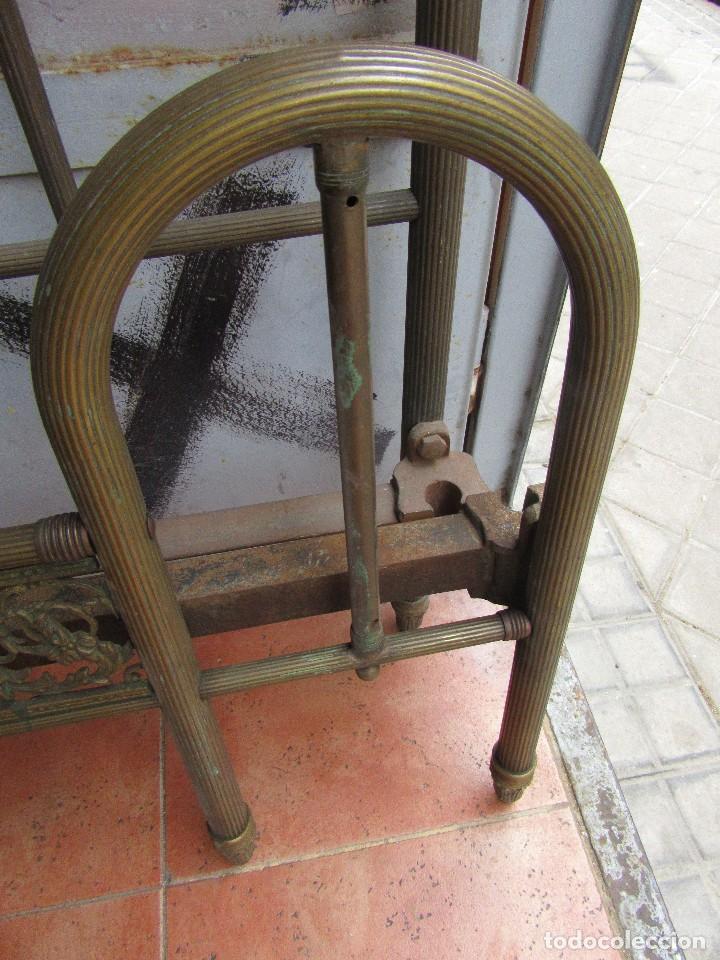 Antigüedades: ANTIGUO CABECERO DE LATÓN - Foto 4 - 81077072
