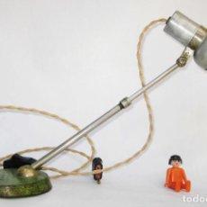 Antigüedades: INEDITA!!!! LAMPARA ANTIGUA FLEXO INDUSTRIAL SIRIUS DRGM ORIGINAL BAUHAUS ALEMANIA AÑOS 20. Lote 81124460