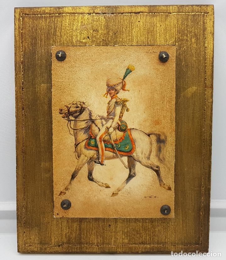 cuadro antiguo en madera con fondo dorado y apl - Comprar Marcos ...