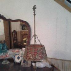 Antigüedades: LAMPARA DE PIE DE BRONCE . Lote 81131456