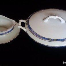 Antigüedades: SOPERA Y SALSERA DE PORCELANA. Lote 81172448