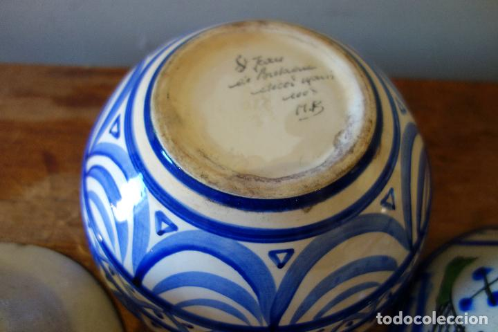 Antigüedades: Conjunto de 3 cuencos en cerámica granadina de Fajalauza (S.XIX?) cuenco lebrillo bol - Foto 7 - 81177624