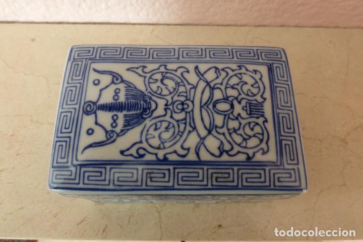 CAJA DE PORCELANA ORIENTAL (Antigüedades - Porcelanas y Cerámicas - China)