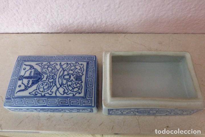 Antigüedades: CAJA DE PORCELANA ORIENTAL - Foto 2 - 81204540