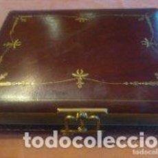 Antigüedades: ANTIGUO ALBUM DE FOTOS PRINCIPIOS SIGLO XX, 15 PAG, Y HUECOS PARA 60 FOTOGRAFIAS, CIERRE DE LATON. Lote 81208656
