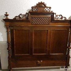 Antigüedades: CABECERO DE NOGAL ALFONSINO. Lote 116068351