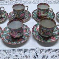 Antigüedades: JUEGO DE CAFE ANTIGUO 8 SERVICIOS PORCELANA MACAO. Lote 81221304