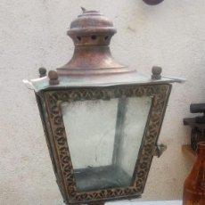 Antigüedades: ANTIGUO FAROL DE IGLESIA. SOBRE PEANA DE MÁRMOL:. Lote 81237208