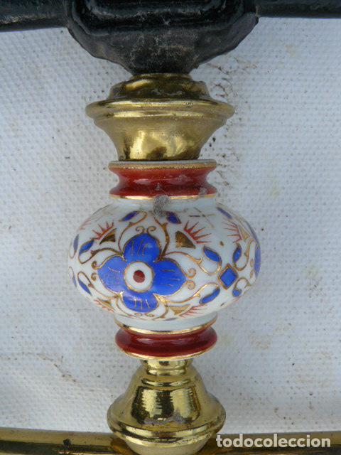 Antigüedades: CABEZAL DE CAMA DE HIERRO DE SORIA - Foto 3 - 81280348