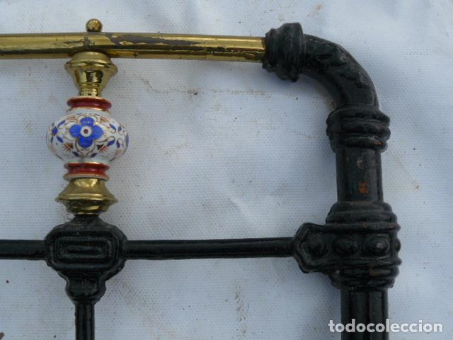 Antigüedades: CABEZAL DE CAMA DE HIERRO DE SORIA - Foto 5 - 81280348