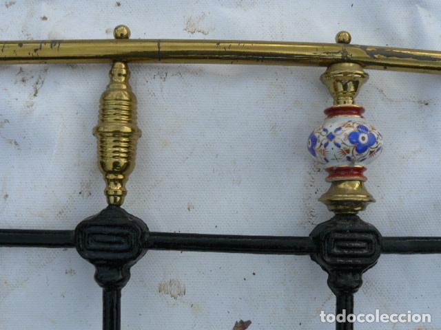 Antigüedades: CABEZAL DE CAMA DE HIERRO DE SORIA - Foto 6 - 81280348