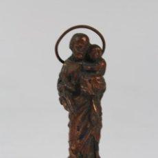 Antigüedades: IMAGEN DE SAN JOSE EN METAL. . Lote 81290840