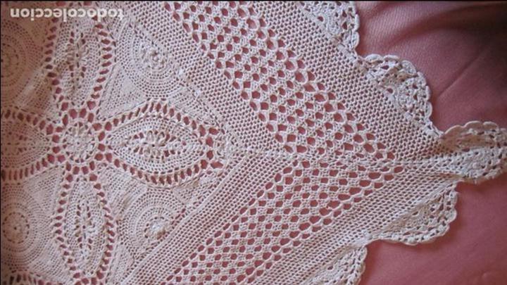 Antigüedades: Antigua colcha de hilo hecha a mano en ganchillo - Foto 3 - 81293560