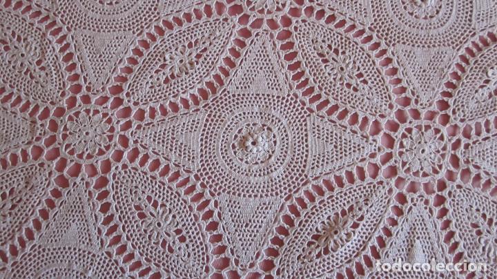 Antigüedades: Antigua colcha de hilo hecha a mano en ganchillo - Foto 4 - 81293560