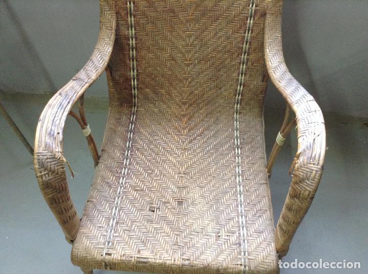 Antigüedades: Sillon de mimbre modernista vintage - Foto 2 - 81376740