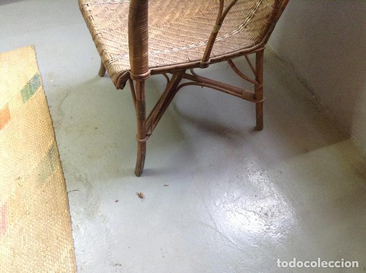 Antigüedades: Sillon de mimbre modernista vintage - Foto 3 - 81376740
