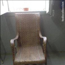 Antiguidades: SILLON DE MIMBRE MODERNISTA VINTAGE. Lote 81376740