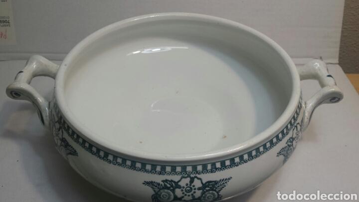 Antigüedades: Sopera Antigua de porcelana sellada y numerada - Foto 2 - 81588394