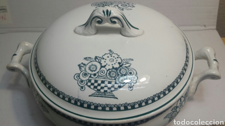 Antigüedades: Sopera Antigua de porcelana sellada y numerada - Foto 6 - 81588394