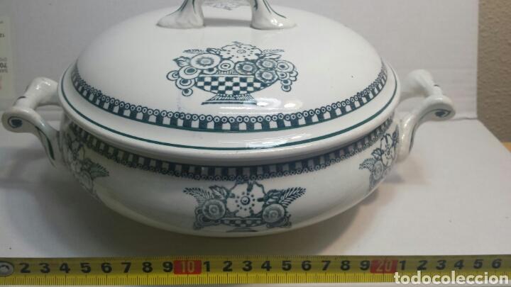 Antigüedades: Sopera Antigua de porcelana sellada y numerada - Foto 7 - 81588394